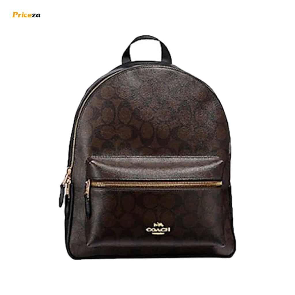 Charlie-Medium-in-Signature-Brown-Black-Backpack